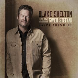 "BLAKE SHELTON, GWEN STEFANI SHARE BRAND NEW SINGLE ""HAPPY ANYWHERE"""