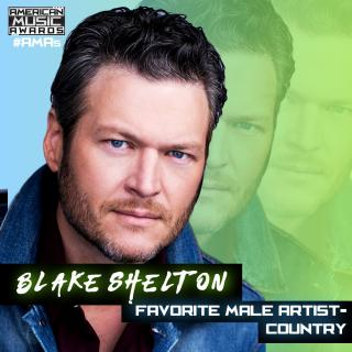 BLAKE SHELTON TAKES HOME AMERICAN MUSIC AWARD FOR FAVORITE COUNTRY MALE