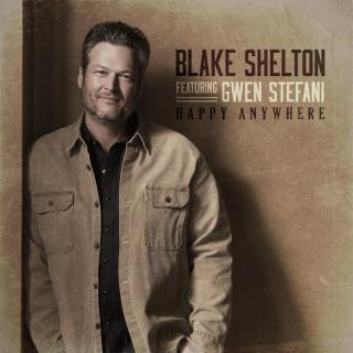 "BLAKE SHELTON, GWEN STEFANI SEND ""HAPPY ANYWHERE"" TO NO. 1"