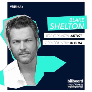 BLAKE SHELTON EARNS BILLBOARD MUSIC AWARDS NOMINATIONS FOR TOP COUNTRY ARTIST & TOP COUNTRY ALBUM!